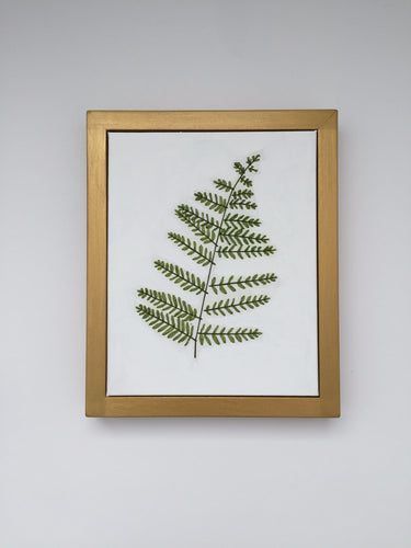 8x10 Silk Ribbon Fern