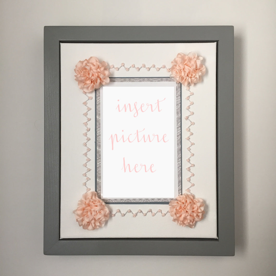 Shy Rose ZigZag Display Frame