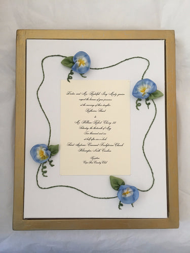 Morning Glory Display Frame
