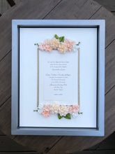 Pale Pink and White Keepsake Frame