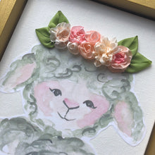8x10 Lamb with Ribbon Flower Crown