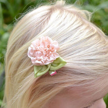 Shy Rose Hair Clip in Little Girl's Hair