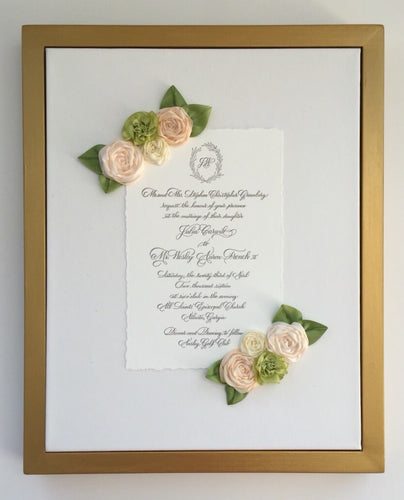 White and Green Keepsake Frame