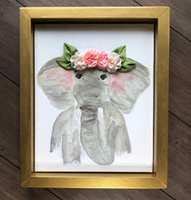 8x10 Elephant with Ribbon Flower Crown