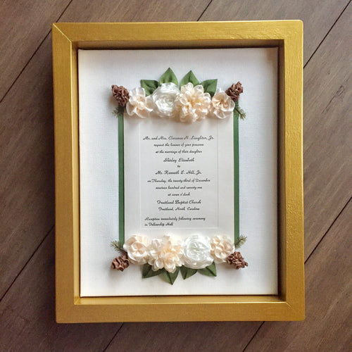 winter wedding keepsake