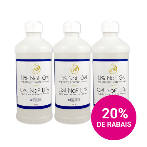 X-PUR 1.1% NaF Gel - 475ml - 3-Pack