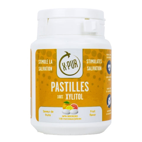X-PUR Pastilles 100% Xylitol (Fruit - Small bottles) - Oral Science Boutique