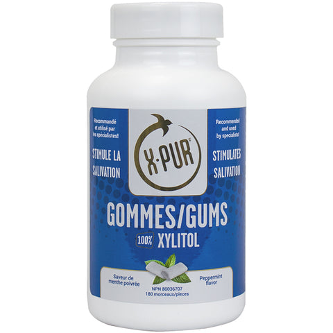 X-PUR Gums 100% Xylitol (Peppermint - Large bottles) - Oral Science Boutique