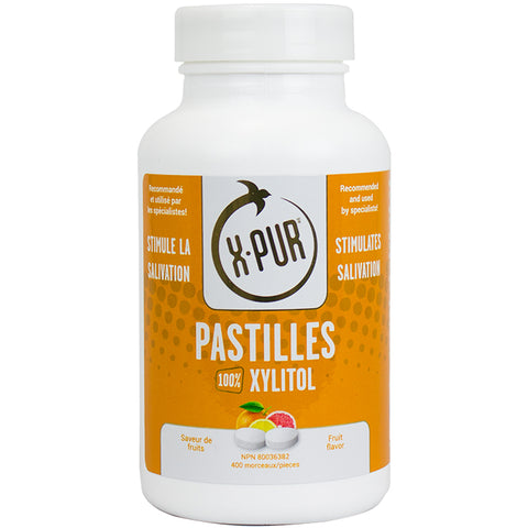 X-PUR Pastilles 100% Xylitol (Fruit - Large bottles) - Oral Science Boutique
