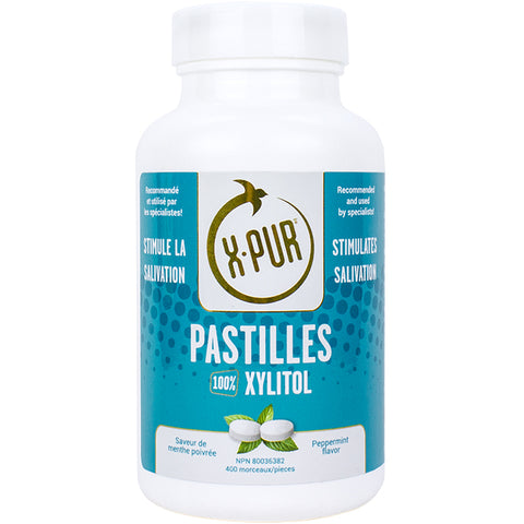 X-PUR Pastilles 100% Xylitol (Peppermint - Large bottles) - Oral Science Boutique