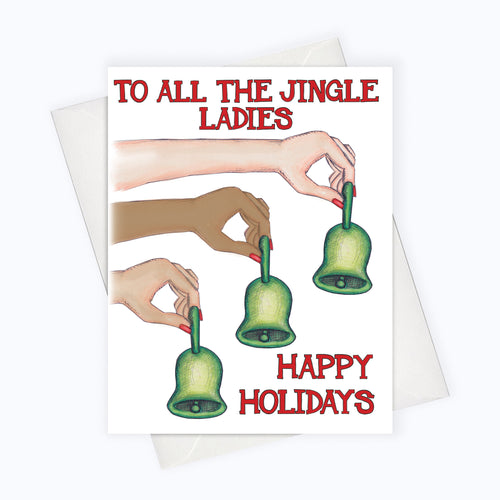 all the jingle ladies holiday card for the ladies, holiday card for the girls, girl gang christmas card