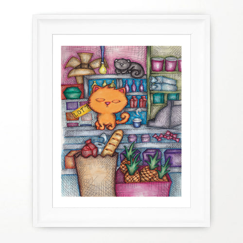 BODEGA CATS PRINT | Cat Poster Room Decor | Cats Poster Room Decor | Cat Lovers Poster | Bodega Cat Art | Cute Cat Art | Cat Lady Gift | Funny Cat Art | Cat Fans
