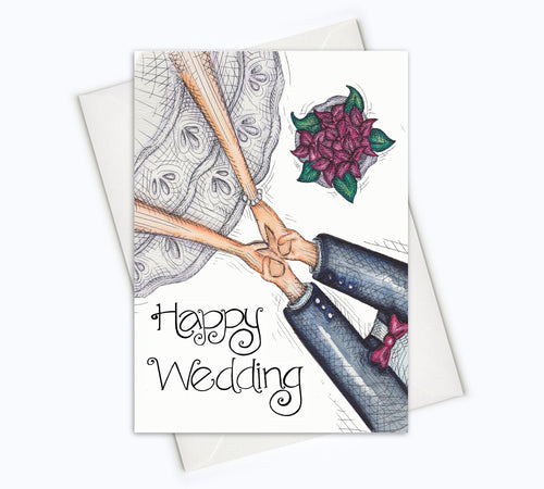 WEDDING CARD - Bride & Groom Card
