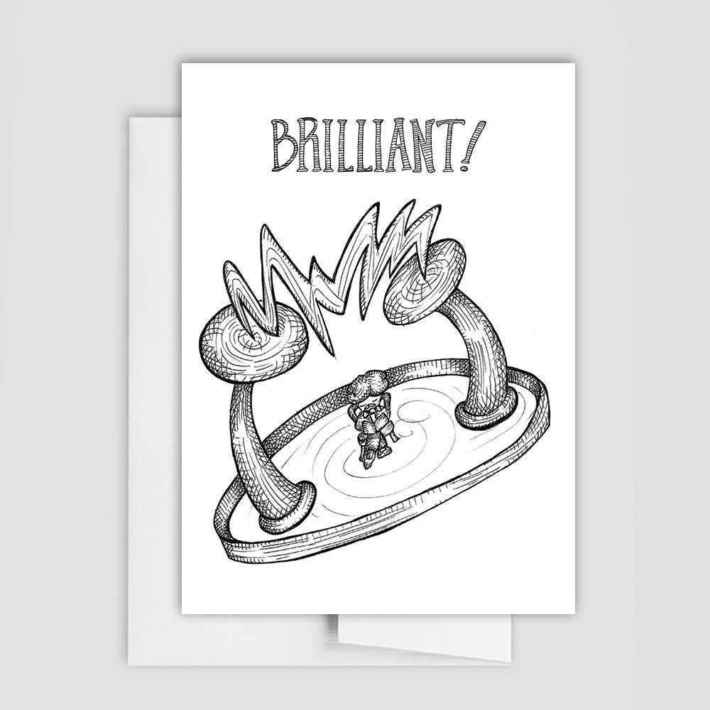 CONGRATULATIONS CARD - Brilliant Nikola Tesla Greeting Card