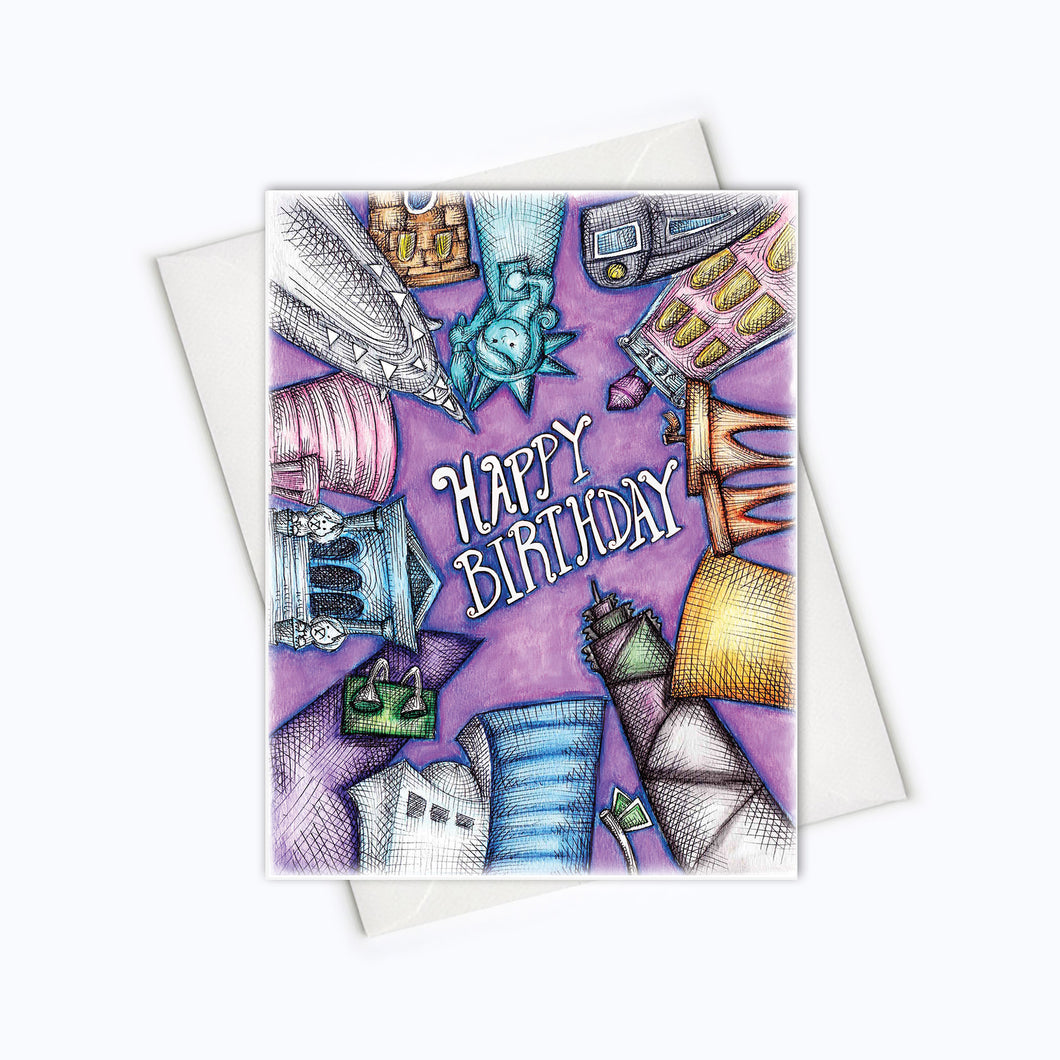 CITY BIRTHDAY CARD - Birthday Greeting Card