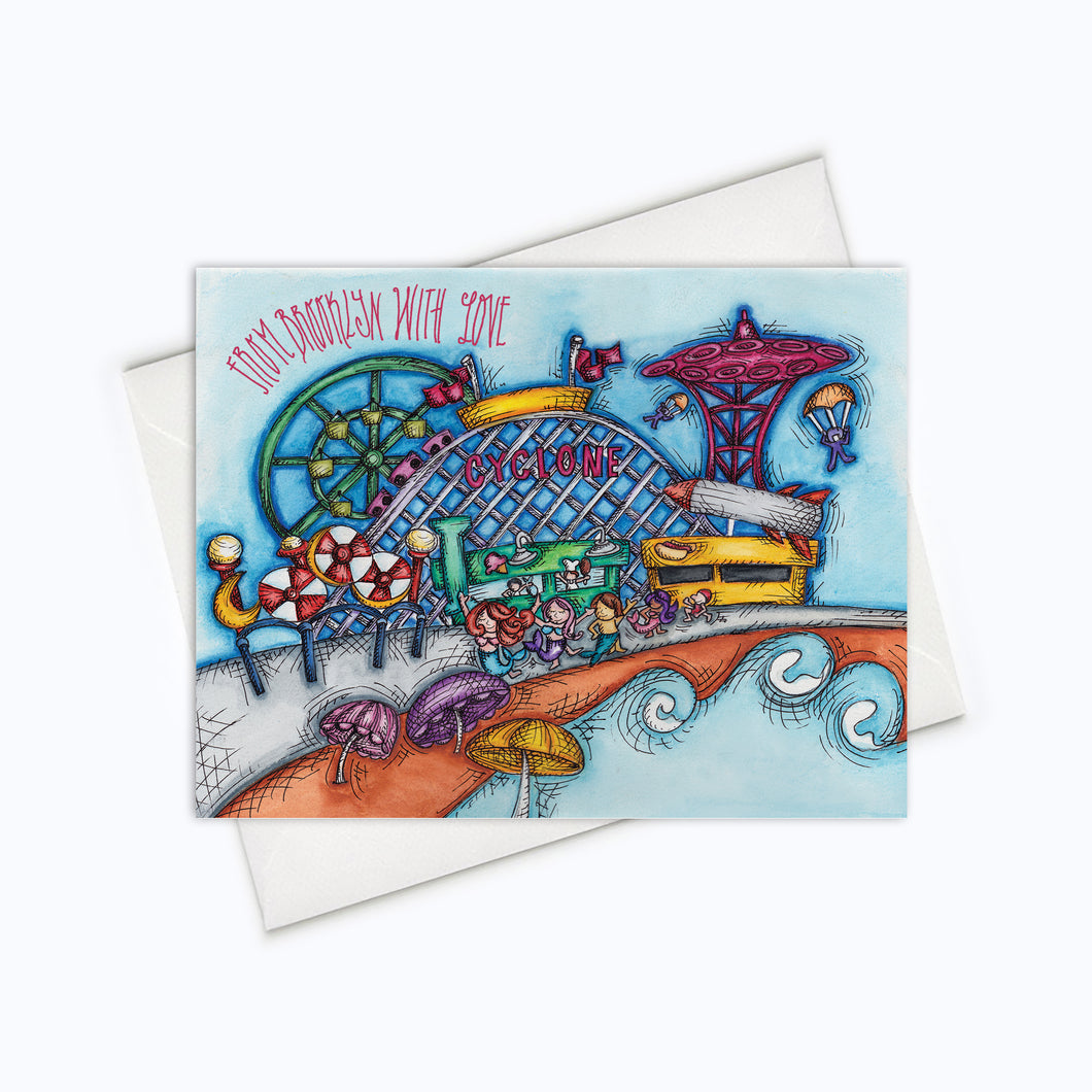 Coney Island Brooklyn Card Everyday card brooklyn stationery stationary