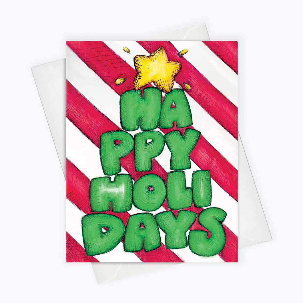 Modern Lettering Holiday Card