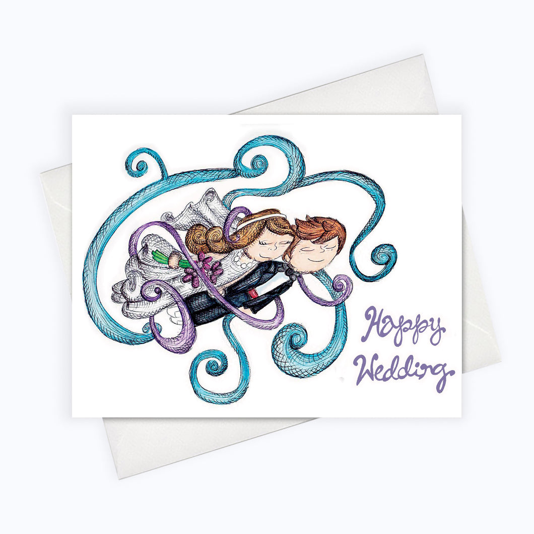 HAPPY WEDDING CARD - Love Card