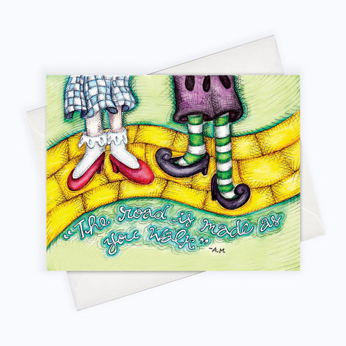 YELLOW BRICK ROAD - Friendship Card | Wizard Of Oz Just Because Card