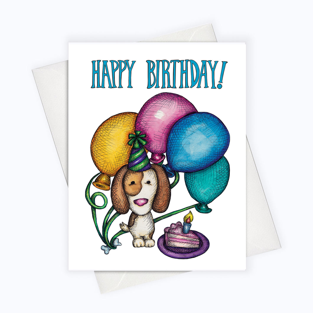 Happy birthday card puppy birthday card doggie birthday card birthday card for dog lovers