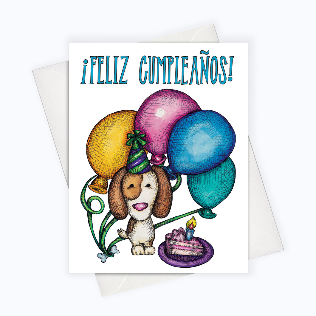 SPANISH BIRTHDAY CARD | Dog Birthday Card en Español | Spanish Feliz Cumpleaños Card | Spanish Card | Puppy Birthday | Dog Feliz Cumpleaños Card | Spanish Greeting Card