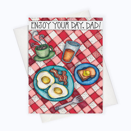 BREAKFAST DAD CARD - Father's Day Card