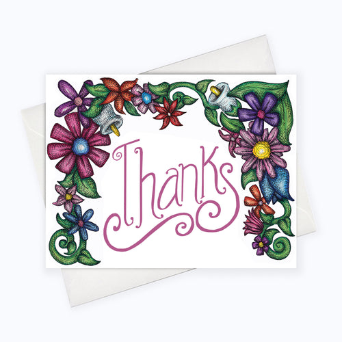 THANK YOU CARD - Thank You Flowers Card