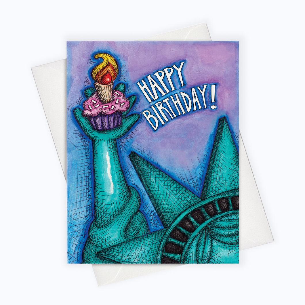 LIBERTY BIRTHDAY CARD - Liberty & Cupcakes For All