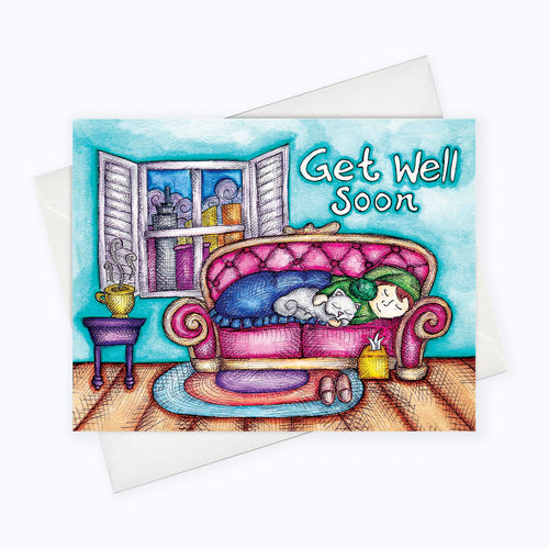 GET WELL SOON CARD | Sympathy Card | Feel Better Greeting Card | Sympathy Stationery | Friendship Card | Get Well Greeting Card
