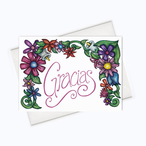 GRACIAS CARD - Spanish Thank You Card