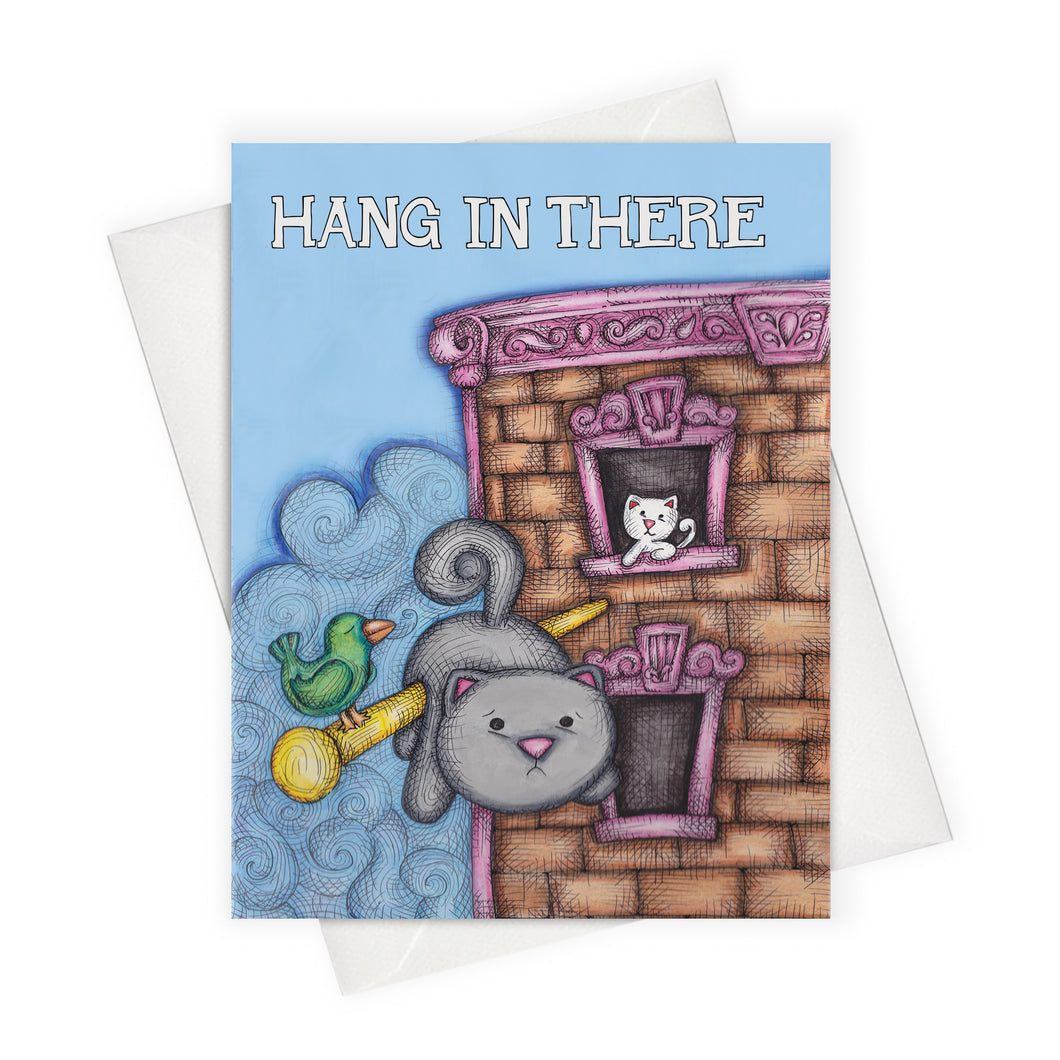 Hang in there friendship card