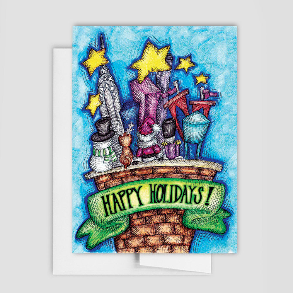 HOLIDAY CARD - Holiday Characters Greeting Cards