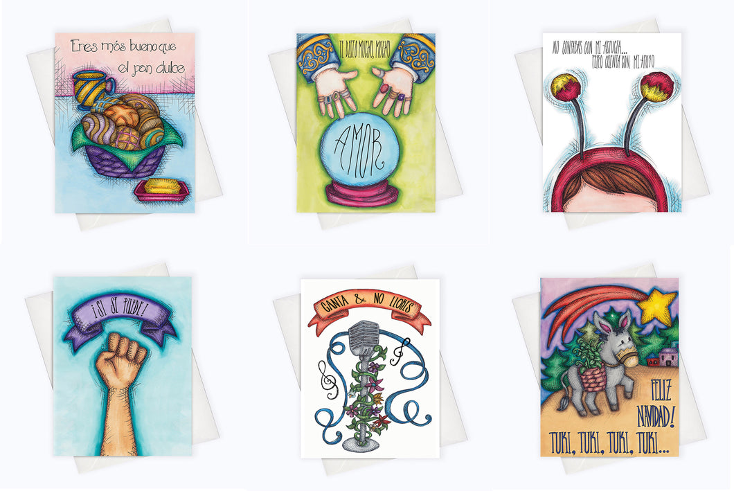 LATINX CARDS STARTER PACK | Set of 6 Spanish Cards & Latinx Cards (WE ALL GROW #AMIGAS PROMO)