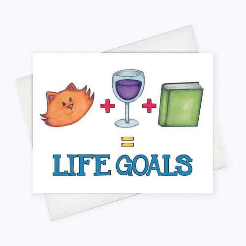 Cat Life Goals Card Life Goals Art