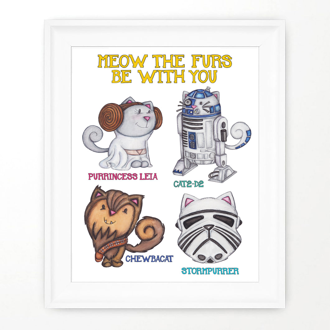 Star wars cats May the furs be with you cat fan art