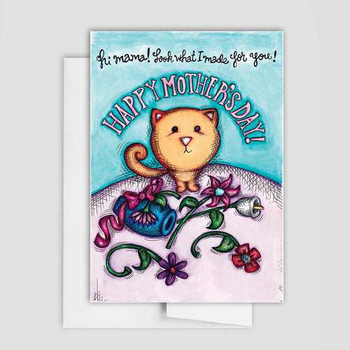 CAT MOTHER'S DAY CARD - Cat Greeting Card