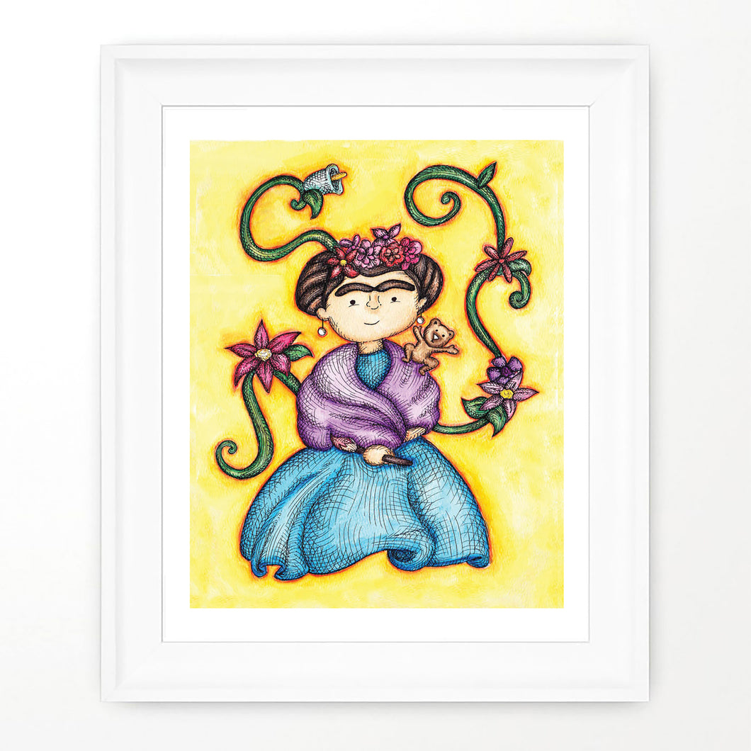 FRIDA KAHLO PRINT - Colorful Room Wall Decor