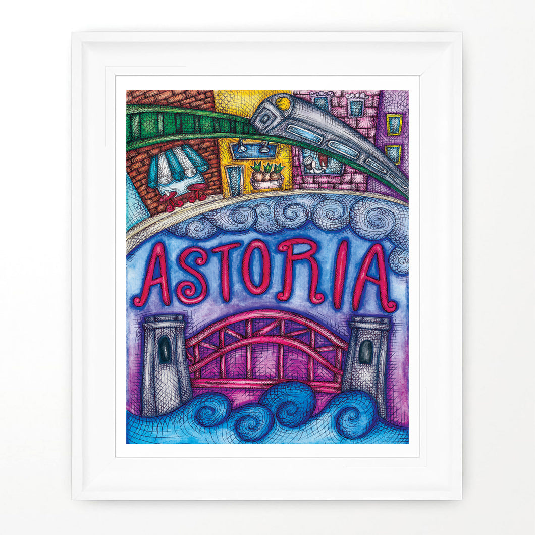 Astoria print Astoria New York Queens Made in Queens Made in NYC