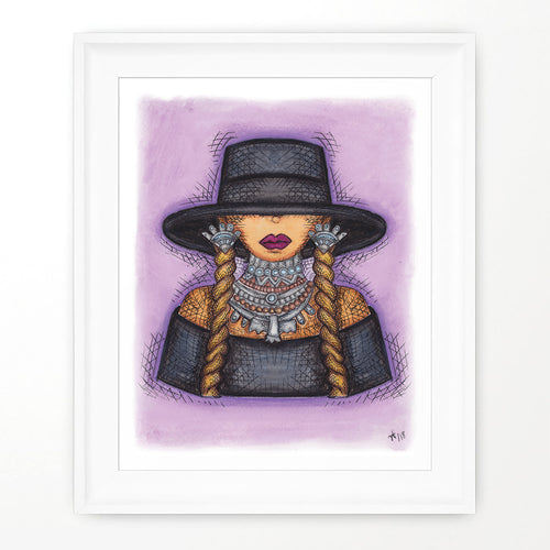 QUEEN BEY Print - Colorful Room Wall Decor