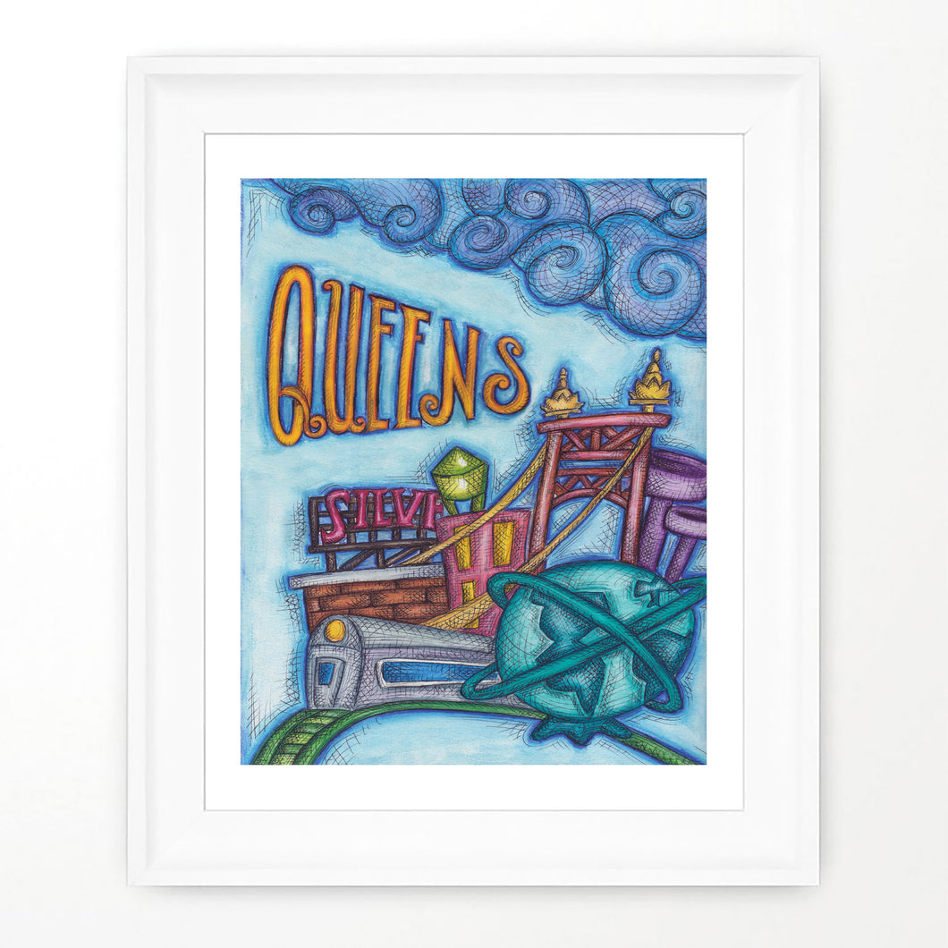Queens Art Print Queens New York City Art