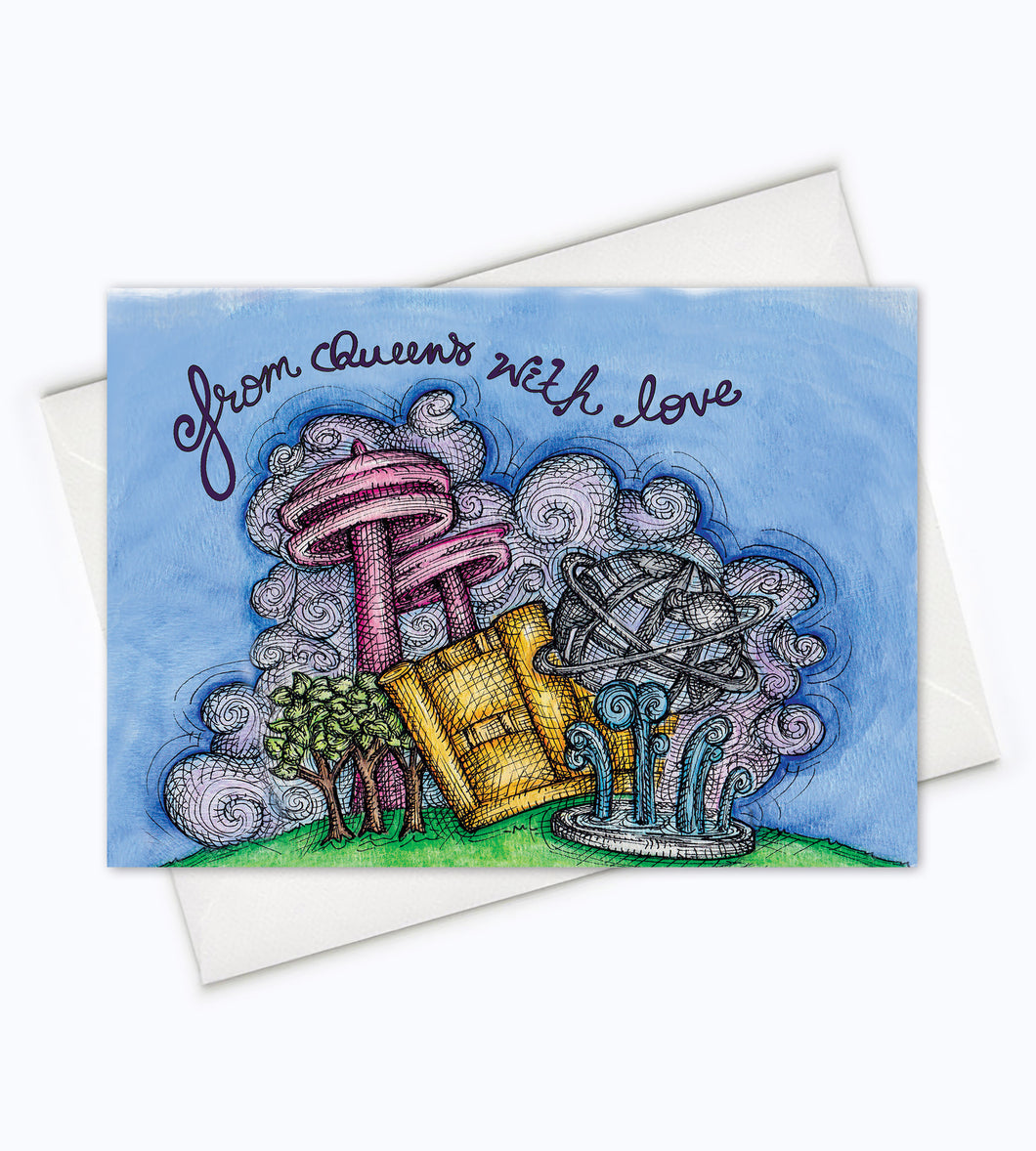 From Queens with Love Greeting Card