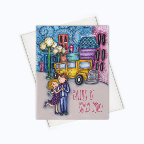 LOVE CARD - Crazy Couple Greeting Card - Literary Love Card