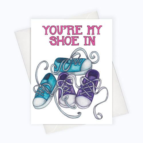 shoe-in cute card, couples card, card for a perfect match, friemdship card, unique valentines day card