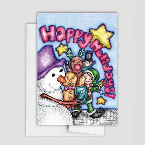 SELFIE HOLIDAY CARD -  Holiday Characters Card