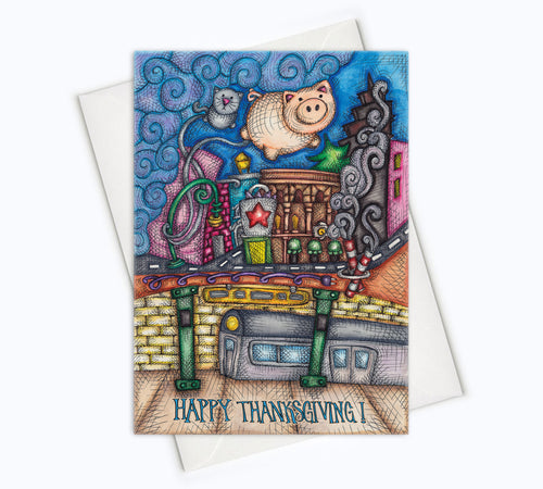 THANKSGIVING CARD - City Thanksgiving Card