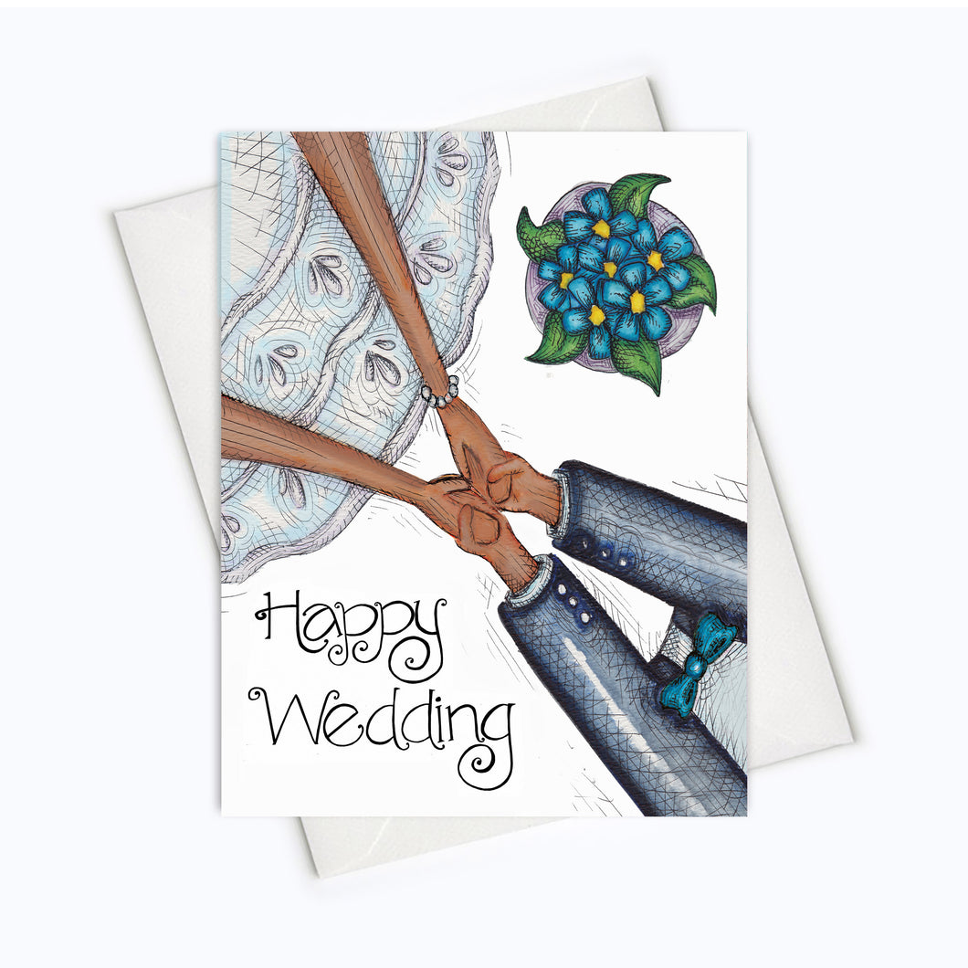 WEDDING CARD - Wedding Bond Too Greeting Card - Bride & Groom Card