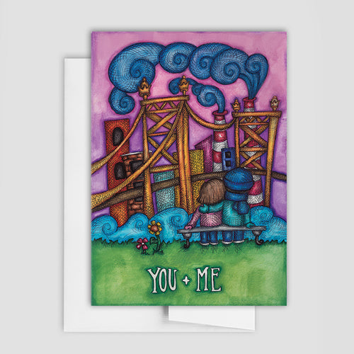 CITY LOVE CARD - Bridge, You & Me Greeting Card