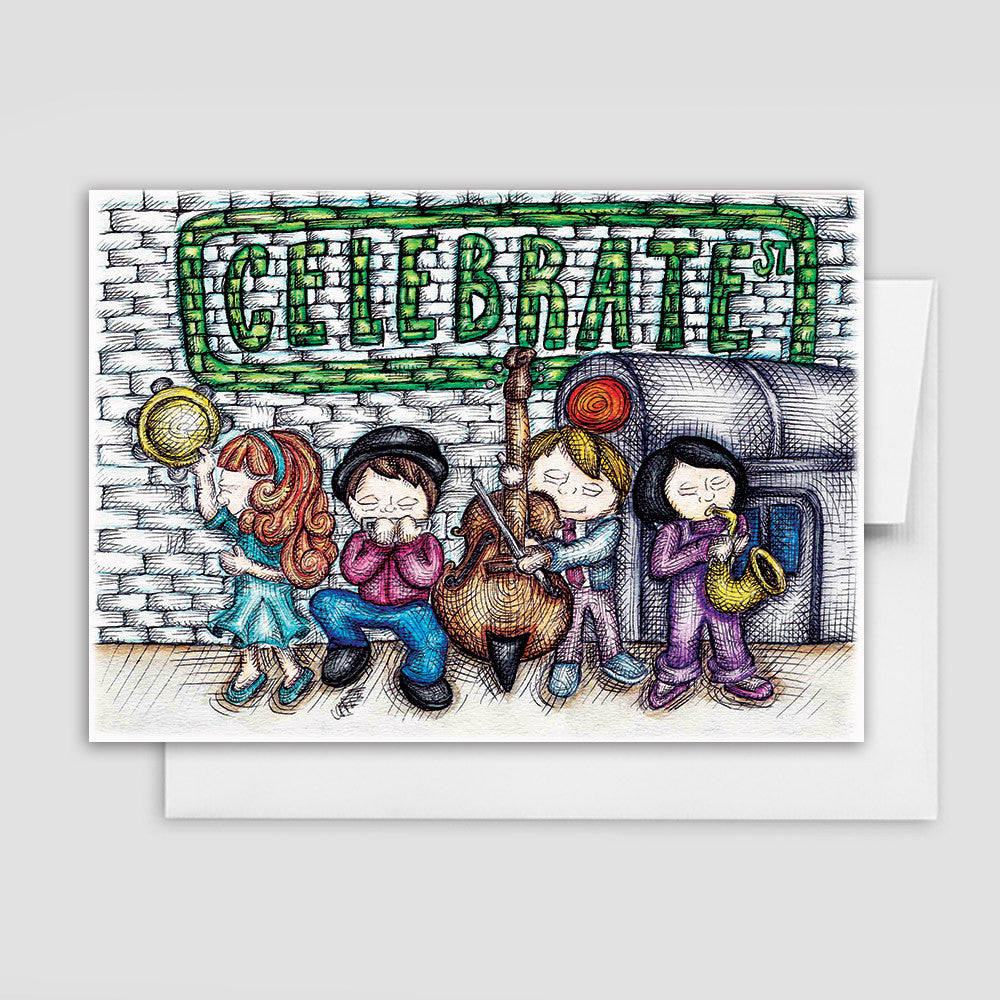 CELEBRATE CARD - Street Music Celebration Card