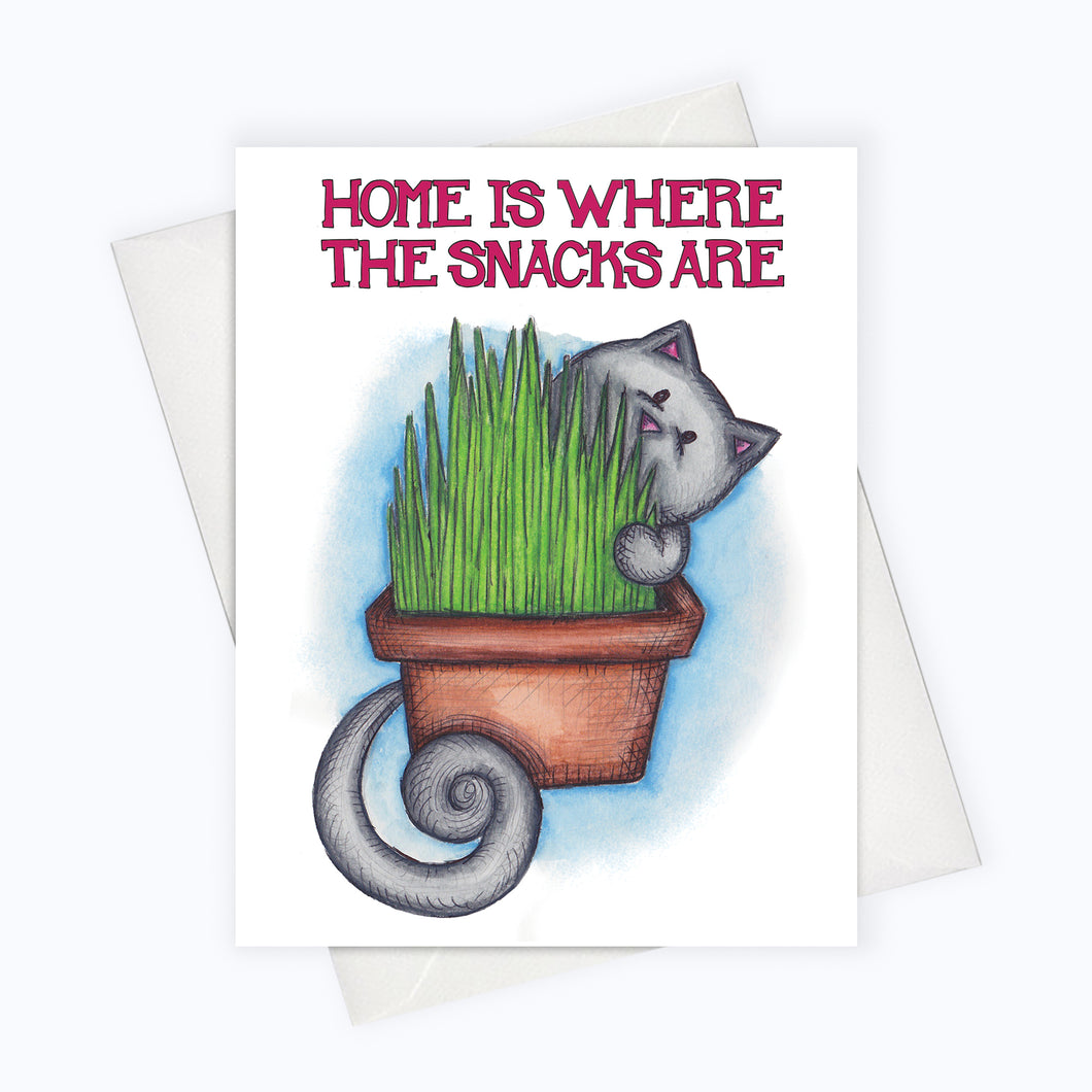 Funny cat home card catnip card