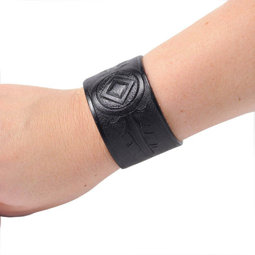 Black Embossed Wristband